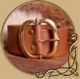 LARP Leather Belt with brass buckle